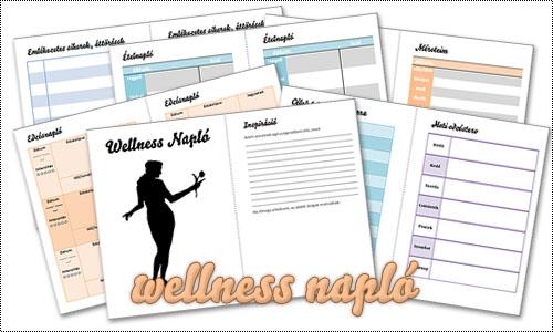 Nyomtatható wellness-napló
