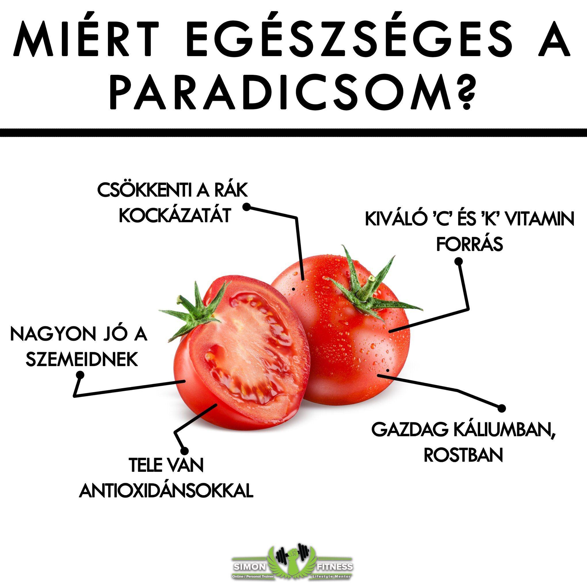 a paradicsom segít a zsírégetésben