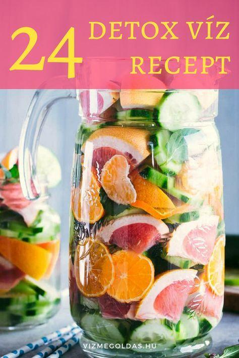 Detox víz: 24 recept a gyors fogyáshoz | Detox drinks, Detox juice, Natural detox drinks