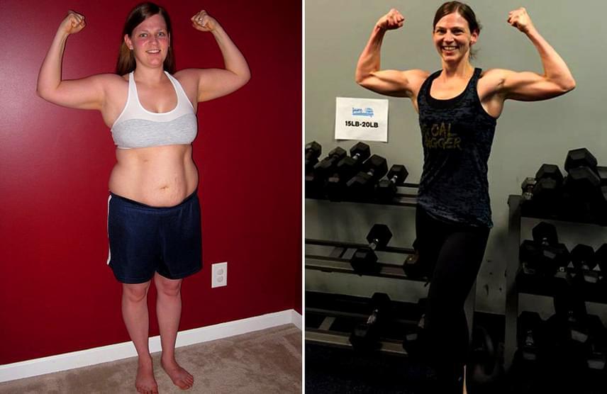 fogyás 8 hét előtt és után